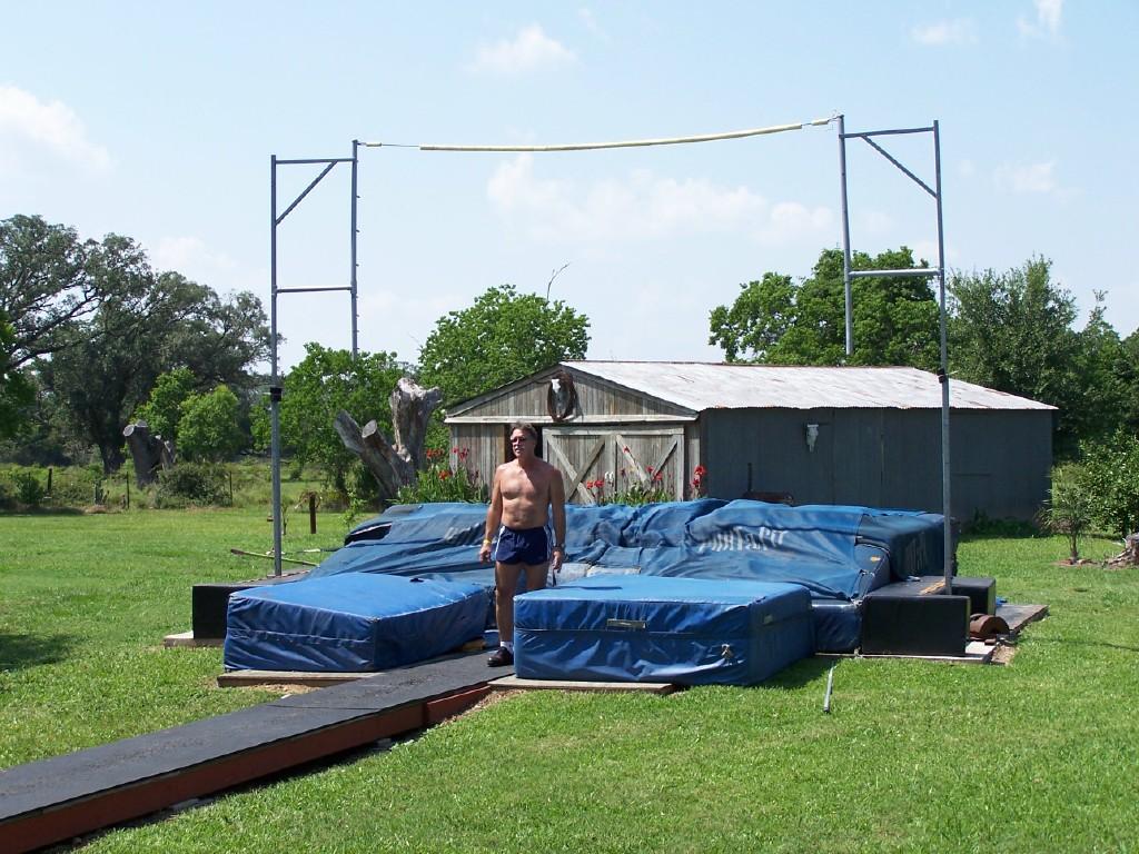 backyard pole vaulting bob crites brazoria texas